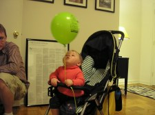 Fiona and her first balloon