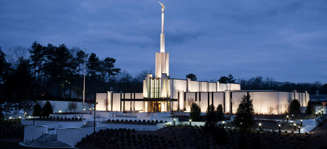 The Atlanta Georgia Temple after its renovation in 2011.