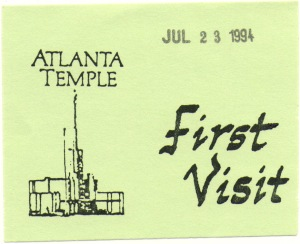 Temple workers gave those of us attending the temple for the first time these cards as a souvenir.