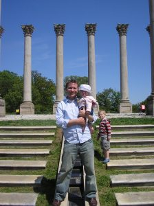 I used a cropped version of this photo as my Mormon.org profile image. Here, Fiona and I stand in front of the Capitol Columns—which originally encircled the East Portico of the United States Capitol—at the National Arboretum in Washington, D.C.