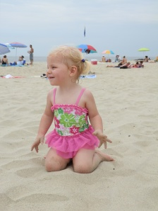 Our now-traditional trip to the beach for Fiona's birthday was awesome this year. But it did have one downside: the only one-piece bathing suit Susan could find for Fiona had nice pink and green floral pattern—and a pink tutu. Despite our best efforts, Fiona seems really to like pink, and she liked the tutu. Which goes to show that, now two years old, she has become her own person.
