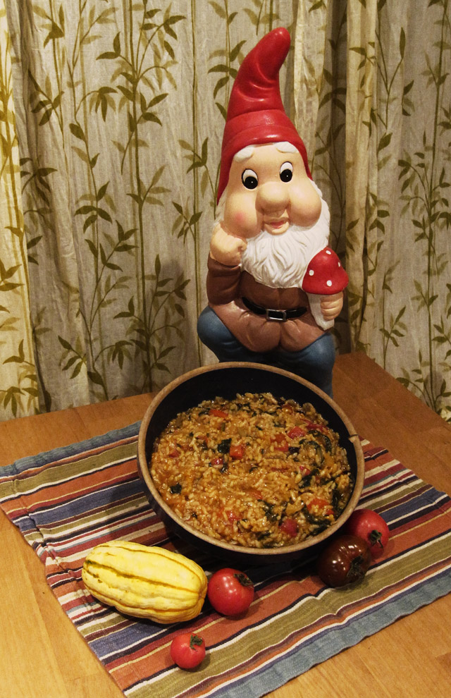 Serving suggestion.Garden gnome not included.