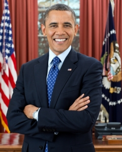 Mr. Obama's new official portrait, for his next four years in office.