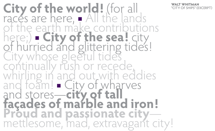 """City of Ships"" (excerpt) by Walt Whitman"