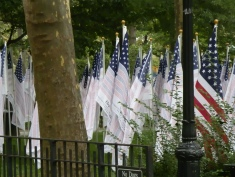 "The ""Flag of Honor"" contains the names of the nearly 3,000 victims of the attacks. A flag for each victim was displayed in the ""Field of Honor"" in Battery Park."