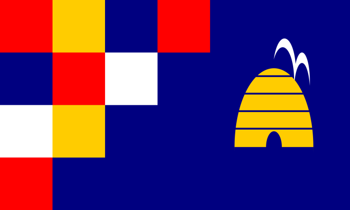 Dustin's submission to the contest to design a new city flag held by Salt Lake City in fall 2004.