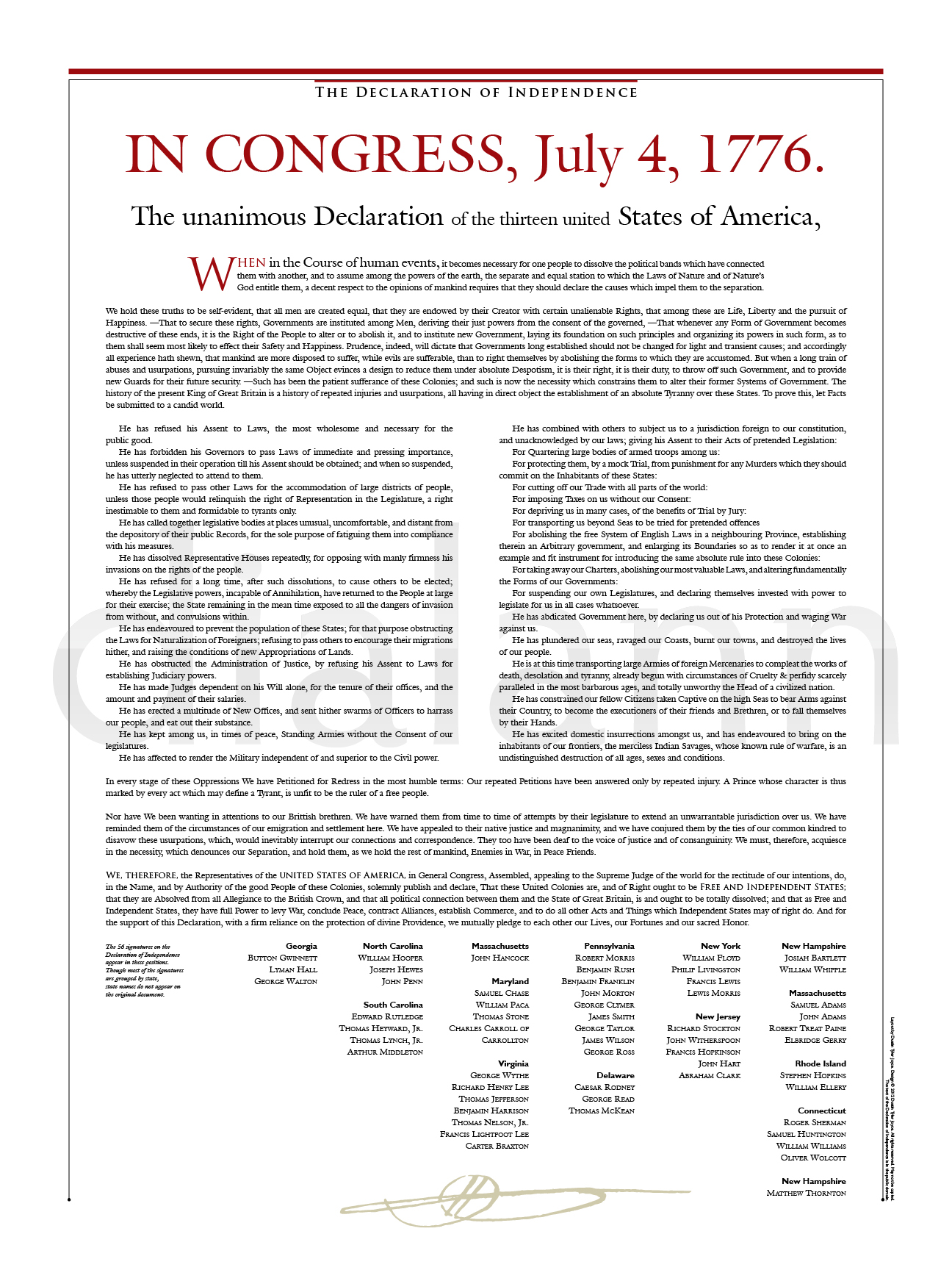 The Declaration of Independence – Dialann