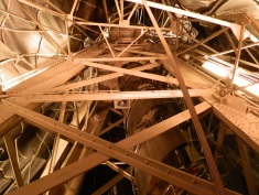 The statue's internal framework, engineered by Gustave Eiffel (yes, of Eiffel Tower fame).