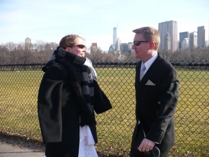 Bundling Susan against the cold