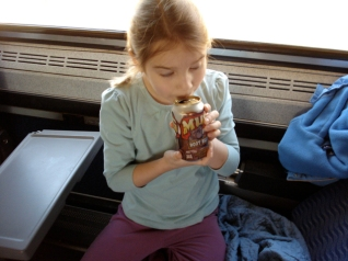 C.H.G. on the train to New York