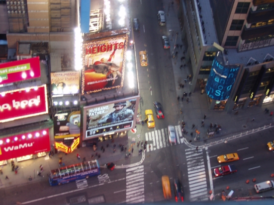 Times Square from Dustin's hotel room
