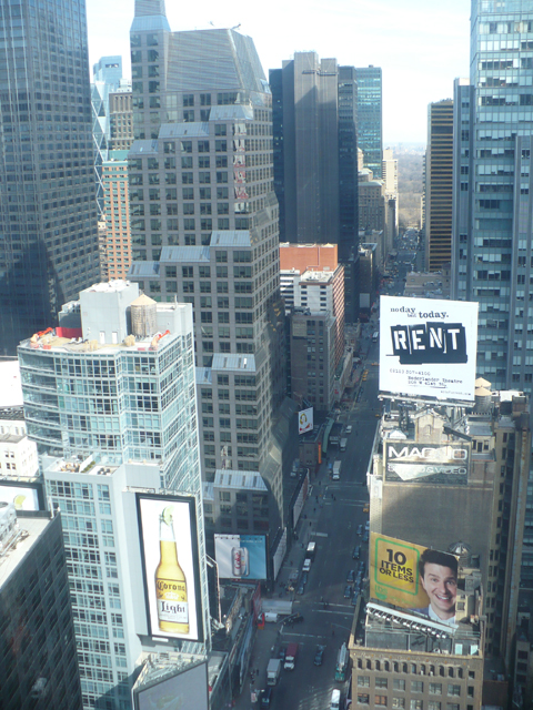 Looking up 7th Avenue toward Central Park from Dustin's hotel room