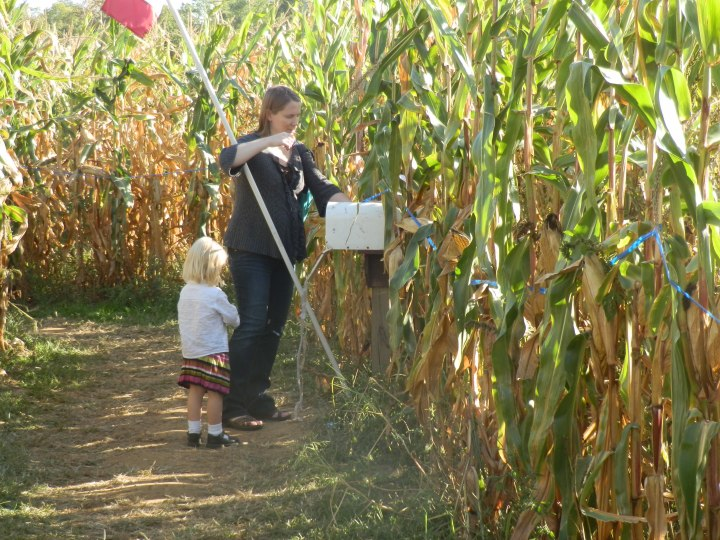 usan and Fiona find another piece of the puzzle as we find our way out of the corn maze.