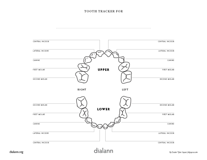 ToothTracker (image of PDF version)