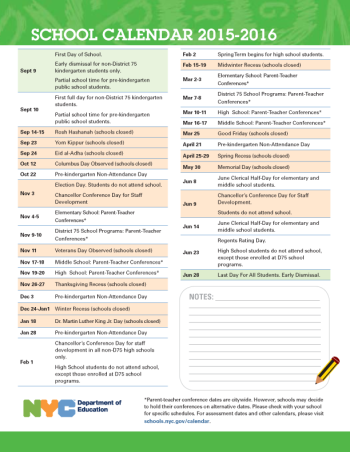 Updated New York City Public Schools Calendar In Google Calendar