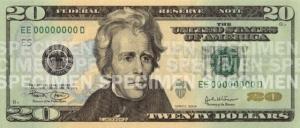 $20 bill, obverse