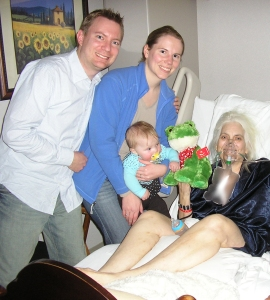 With Dustin's Aunt Linda