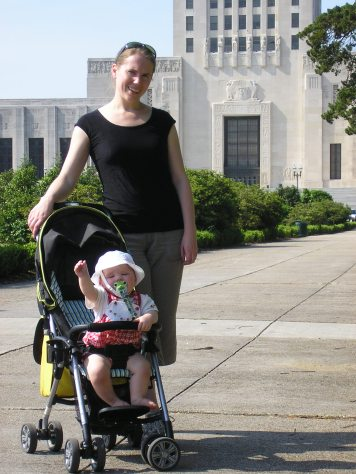 Susan and Fiona at the Louisiana State Capitol