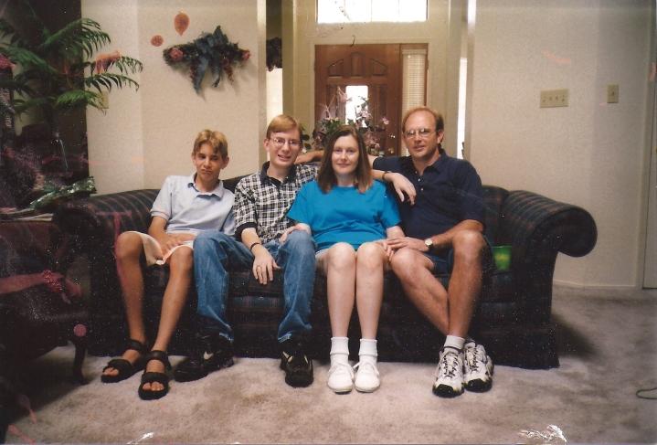 Dustin's family, August 1998