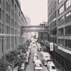 Bridge: This skybridge over West 15th Street, as seen from the High Line, connected the factory and offices of the National Biscuit Company, better known as Nabisco. Today the factory is Chelsea Market, and the bridge is somewhat reminiscent of the Bridge of Sighs in Venice.