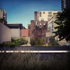 Chimney art: Art inhabits both the High Line and the walls of the buildings around it.