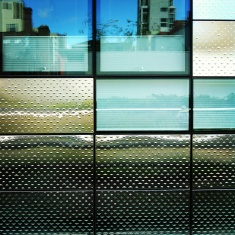 Diamond skin: Many of the new buildings along the High Line have bold, avant garde design.