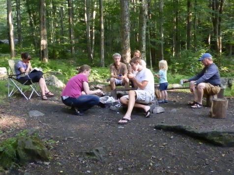 The group Left to right: Ellen, Susan, Bob, Michael, Karen, Fiona, and Papa/David