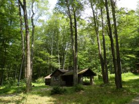 One of the rustic cabins at Promised Land State Park